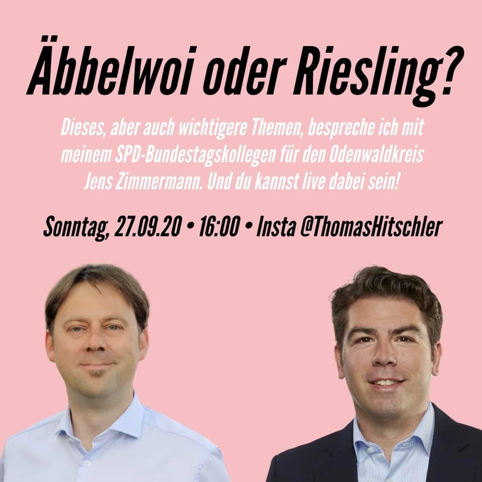 Jens Zimmermann und Thomas Hitschler in einer Bildmontage zur Bewerbung der Instalive.