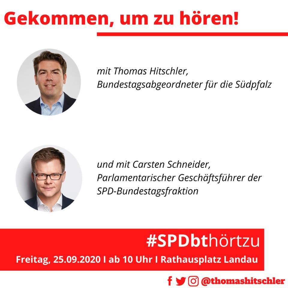 Thomas Hitschler und Carsten Schneider in einer Bildmontage zur Bewerbung der Dialogtour