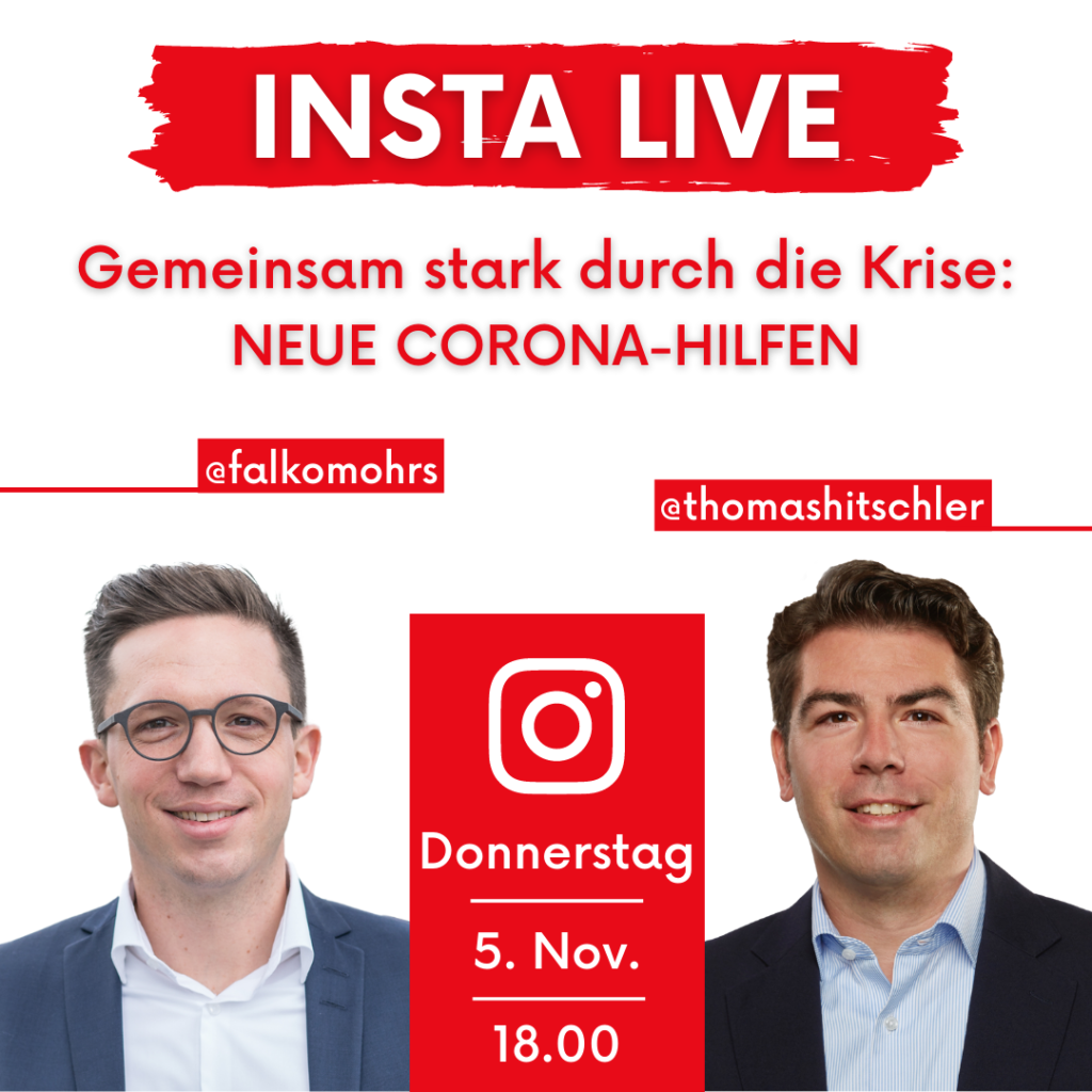Falko Mohrs und Thomas Hitschler als Fotomontage zur Bewerbung der Instagramlivestunde